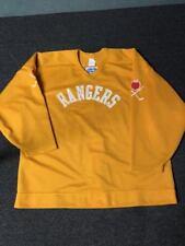Used Yellow New York Rangers CCM Practice Ice Hockey Jersey MeiGray 56
