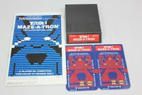 Tron Maze-A-Tron Intellivision w/ English French Manual 2 Overlays