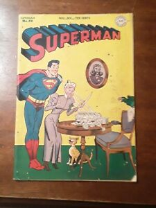 Superman #43  Golden Age DC Superhero Comic 1946