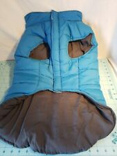 Akini Padded Dog Jacket - Blue with Gray - Xl for Great Danes & Other Large Dogs