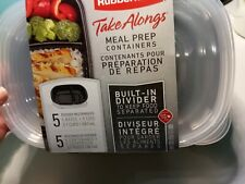 New listing Nwt Rubbermaid Take Alongs Meal Prep Containers Built in DividersFree Shipping