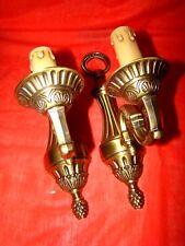 2 appliques en bronze patiné 1 lampe époque années 60