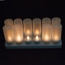 Set of 12 rechargeable tealight candle lamp waxless Wedding/home/ bar-Warm White