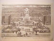 «parterre d´Eau, de la fontaine de Latone, des Jardins et Canal de Versailles».