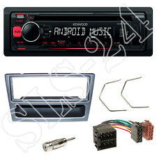 Kenwood KDC-120UR Autoradio Set Renault Trafic II Blende anthrazit ISO Adapter