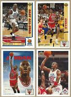 1991 Upper Deck MICHAEL JORDAN - 4 Card Lot:  - ALL TIME GREAT HALL OF FAMER