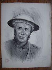 Lithographie Litho signée et dédicacée de Lucien JONAS  Soldat anglais WW1 Tommy