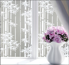 Bamboo Frosted Window Film, Privacy Glass Self Adhesive Opaque Vinyl Decor Home
