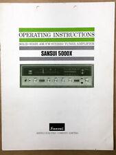 Sansui  5000X Receiver Owners / User Manual *Original*