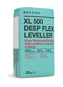Latex Self Levelling Compound 32 Bags 25kg bags-Rocatex XL500 Deep Flex Leveller
