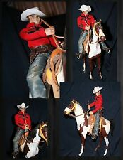 action figure James Dean 1/6 cowboy western horse saddle all in photo