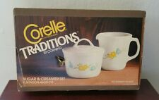 VTG Corelle Traditions by Corning Flirtation 4605-70 Sugar & Creamer Set in Box