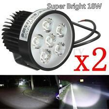 2x Motorcycle Motorbike 18W LED Headlight Work Driving Spot Light lamp 12V 24V
