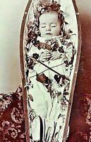 Antique Post Mortem Child Casket Photo 320b Odd Strange & Bizarre