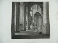 Gravur, Ein Innen Kirchen- Graviert Von Sellier Museum Des Louvre Hermet