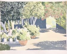 Charles Penny, Courtyard, Ltd. Ed. lithograph, hand signed