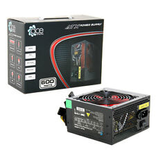 ACE 600W Black PC Computer Power Supply ATX PSU 6-Pin PCI-E 120mm Red Fan NEW