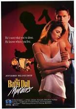 BABY DOLL MURDERS Movie POSTER 27x40 Jeff Kober Melanie Smith John Saxon Tom