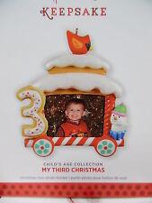 HALLMARK 2013 My Third Christmas Train Car Photo Holder NEW IN DAMAGED BOX