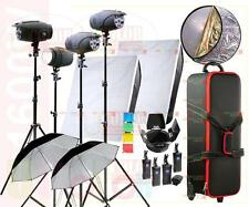 1600W Studio Strobe Flash Light Kit 4 Lamp Photography Lighting Mobile Case