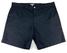 PETER MILLAR WICKING Men's Flat Front Polyester Golf Shorts Black Size 42