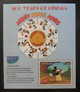 Grenada 1997 Pacific 97 Cent Cinema Mickey Mouse MS MS3409 MNH unmounted mint