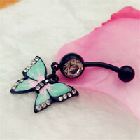 Cute Sexy Butterfly Body Jewelry Belly Button Ring Piercing Navel Piercing