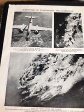 m9-7 Ephemera 1940s Ww2 Picture Pantellaria Sicily Bomber Attack