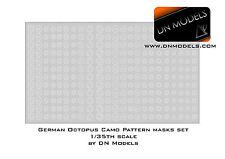 German Octopus Camouflage Pattern Paint Masks Set King Tiger 1/35 DN Models