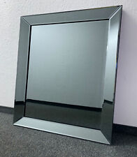 Classy Wall Mirror Anthracite 50x50cm Frame From Colmore Glass