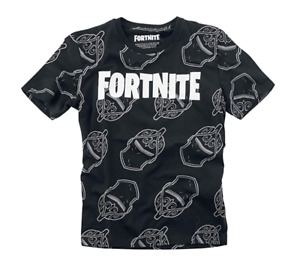 T-shirt manches courtes FORTNITE enfant garçon 100% coton 10-16 ans NEUF