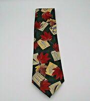 "Structure Men's Neck Tie Multicolor Leaf Pattern NWT Silk 55"" x 4"""