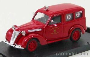 FIAT 1100 E FIRE ENGINE AMBULANCE VIGILI DEL FUOCO SCALA 1/43 BRUMM R180B