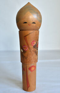 "24.3cm(9.6"") Japanese Old Sosaku Kokeshi Doll : no signed"