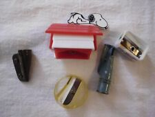 Lot of 5 Pencil Sharpeners Snoopy, Metal, Plastic, German, Kosmos
