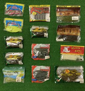 Bass Fishing Soft Plastic Lures Baits Worms Sink O Mixed Lot Gary Yamamoto New