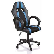 TRESKO® Sedia da ufficio girevole per casa Poltrona ufficio Sportiva Azzurro