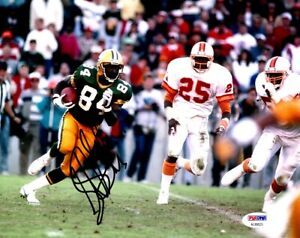 Sterling Sharpe Signed Autographed Green Bay Packers 8x10 inch Photo + PSA/DNA