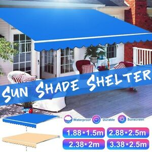 Sun Shade Shelter Garden Patio Awning Canopy Replacement Fabric Top Cover