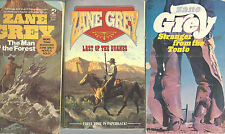 Western Books Zane Grey Last Of The Duanes Short Stories Lot of 5 Paper Backs