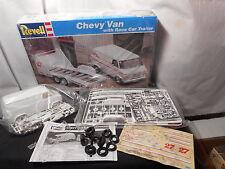 Model Kit Chevy Van with Race Trailer