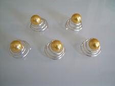 Lot Bijou/Perle/Spirale Cheveux court détachés robe de Mariée/Mariage Jaune d'or