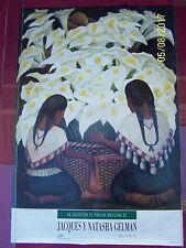 """DIEGO RIVERA, """"Vendedora de alcatraces,"""" JACQUES y NATASHA GELMAN 1992 POSTER"""