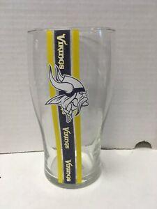 Minnesota Vikings NFL Striped 20 Ounce Pub Beer Glass