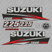 Suzuki 225HP Four Stroke Outboard Engine Decals Sticker Set reproduction 225 HP