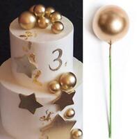 Gold Foam Balls Cake Topper Birthday Wedding Party Dessert Decor Insert UK