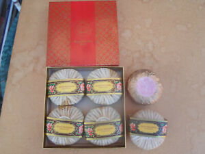 ROGER & GALLET CARNATION PERFUMED BODY SOAP X 5  MADE IN FRANCE