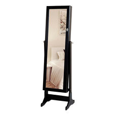 Jewelry Cabinet Armoire Jewelry Storage Organizer Box with Mirror Free Standing