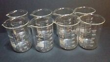 500 ml borosilicate glass graduated beakers (Set of 8)