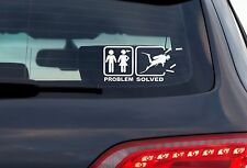 Problem Solved - 8 Inch White Vinyl Decal For Windows, Trucks, Cars